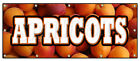 APRICOTS BANNER SIGN fresh orchard produce just picked sweet delicious ripe