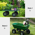 Durable Outdoor Garden Cart Multipurpose Lawm Yard Farm Cart Heavy Duty Green