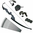 Archery Recurve Bow Takedown 30-40lbs & Arrows for Adults Set BeginnerRight H