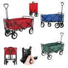 Wagon Cart Collapsible Garden Beach Utility Outdoor Fold Buggy Camping w/Brack