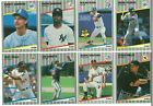 1989 Fleer Update Complete Team Set from Factory Set Rookie Card RC Traded 89 on Ebay