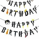 Harry Potter Party Supplies - Happy Birthday Banner Party DecorationCake Topper