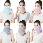 Women Breathable Dustproof Veil Sunscreen Neck Scarf Muslim Face Cover Niqab