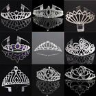 Girls Rhinestones Crowns Tiaras Bride Wedding Hair Jewelry Headband Headpiece