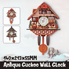 Antique Vintage Cuckoo Clock Forest Wall Clock Room Decor Wood Home Office US  0