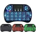 Rechargeable Backlight Mini 2.4GHz 88 Keys Wireless Keyboard with Touchpad USA