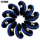 Golf Iron Covers 10Pack Club Head Covers Home Practice New Gift AU Blue Pink Red
