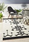 Flatwoven Destiny Design Galaga Wool Floor Area Rug Black
