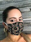 Adjustable Fashion Filter Pocket 100%Cotton Face Mask Washable Double Cotton USA