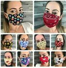32 Styles Fashion Filter Pocket 100%Cotton Face Mask Washable Double Cotton USA $13.89 USD on eBay