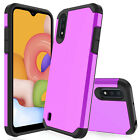 For Samsung Galaxy A01 Case Shockproof Hybrid Hard Phone Cover/Screen Protector