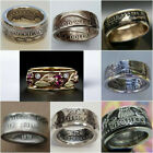 Handmade Coin Rings Vintage Men Women 925 Silver Ring Collecting Jewelry Sz 6-13