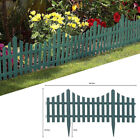 4pc Plastic Edging Grey Wooden Effect Picket Fencing Edge Set Lawn Garden Border