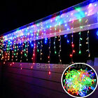 96 LEDs Romantic Icicle Curtain String Fairy Light Xmas Light RGB Wedding Party
