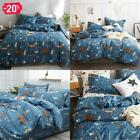 Clothknow Kids Twin Duvet Cover Sets Cotton Boys Girls Bedding Navy Blue Bear Fo