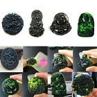 Natural Black Green Jade Pendant Buddhism Good Lucky Amulet Gifts