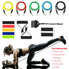 Resistance Bands Tubes Set Trainers Exercise For Fitness Workout Yoga Home Gym image