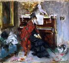 Women at the Piano Painting by Giovanni Boldini Art Reproduction