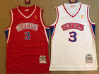Nwt  3 Allen Iverson Sixers Rookie Philadelphia 76ers Mens Sewn Red white Jersey