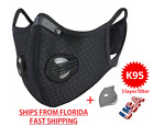 Face Mask Air Activated Carbon Filter Nylon Reusable Washable USA SELLER