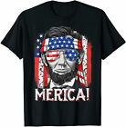 4th of July Shirts for Men Merica Abe Lincoln Women Tee Gift Vintage Men Gift...