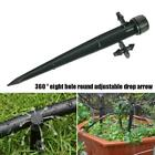 1/5/10 Micro Garden Irrigation Adjustable Dripper/sprinkler On Stake 360° N0b0