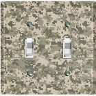 Metal Light Switch Cover Wall Plate ACU Camouflage Patten CAM001