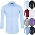Mens Stylish Slim Fit Solid Color Long Sleeve Shirt Tops Casual Shirts S~XL
