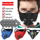 Reusable Outdoor Mouth Mask Breathing Valve Activated Carbon Filters Pad