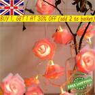 Plastic Home Decor Party Wedding Rose Lights String Led Usb Fairy Lamp Flower Uk