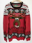 NWT Men's Ugly Christmas Sweater Rudolph 3D Nose Small MSRP$60 New Free Ship