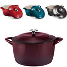 Tramontina Enameled Cast Iron 7-Qt. Covered Round Dutch Oven