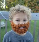 Crochet beard baby toddler child adult funny novelty photo prop costume