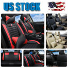 Universal 5-Sits Full Set Car Seat Cover Set+Pillows Full Surrounded PU Leather $66.45 USD on eBay