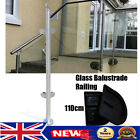 110cm SUS316 Glass Balustrade Railing Posts Grade Applicable Glass/Wood 8~12mm