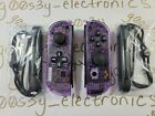NEW​ Nintendo Switch Custom DPAD Clear Atomic Purple Joy Cons w/ Black Buttons