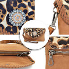 Women PU Leather Purses Handbags Wristlet Pouch-Crossbody Bags Adjustable Strap image