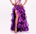New Professional Belly Dance Costume Waves Skirt Dress with slit Skirt 10 Colors