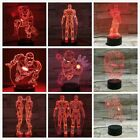 3D Lamp Superhero Iron Man Child Room Deco Kids Ironman Led Night Light Avengers