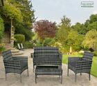 4 Piece Rattan Garden Furniture Set Outdoor Patio Conservatory Chairs Sofa Table