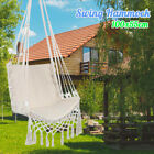 US Garden Hammock Chair Hanging Swing Seat with Rope Outdoor Camping 90kg Load