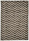 Zig Zag Design Floor Area Rug Tunisia Grey 19mm Thick Machine Woven