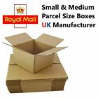 ROYAL MAIL SMALL PARCEL SIZE POSTAL CARDBOARD BOXES ALL SIZES