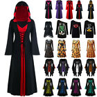 US Womens Vintage Renaissance Fancy Dress Gothic Witch Cosplay Halloween Costume