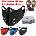 Cycling Sports Face Mask & Activated Carbon Fliter Pads Washable Face Mask