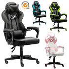 Gaming Chair Racing Leather Office Recliner Computer Desk High-Back Seat Swivel