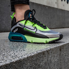 Nike Air Max 2090 White/Volt/Valerian Blue/Black Trainers in Various Sizes