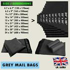 Grey Mail Strong Poly Postal Heavy Duty Bags Self Seal All Size Cheap UK