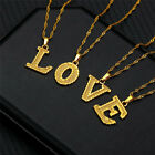 Letter Necklace Alphabet A-z Gold Big Chain Pendant Initial Statement Jewelry