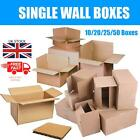 10 20 25 50 x Single Wall Box Small Parcel Packing Corrugated Cardboard Boxes